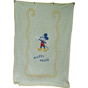 Colorful Mickey Mouse Vintage Chenille Child's Twin Bedspread