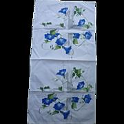 SOLD Morning Glories on Trellis Vintage Dish Towel
