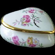 Lovely Limoges Floral Heart Trinket Box