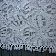 SOLD Lovely Pineapple Crochet Throw or Small Spread