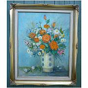 SALE Bouquet III by Paula Zarnick Impressionist Flowers in Vase Still Life OOC Framed