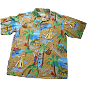 SOLD Reyn Spooner Jimmy Buffet Margaritaville Hawaiian Shirt