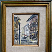 SALE French Quarter New Orleans Impressionist Oil on Canvas Board Framed Signed