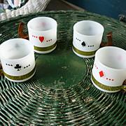 SALE Siesta Ware Playing Card Mugs Set of 4