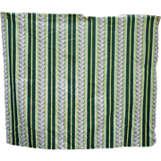 SOLD Vertical Stripes and Leaves Vintage Barkcloth Piece