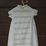 SALE Victorian Lace and Tucks Christening Gown Baby Doll Dress