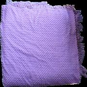 SOLD Lovely Lilac Orchid Morgan Jones Vintage Chenille Bedspread HTF Queen