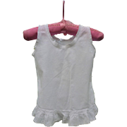 Fine White Cotton and Lace Victorian Baby Dress or Slip