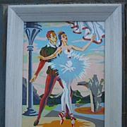 SALE Pas De Deux Ballet Paint by Number PBN Framed Signed
