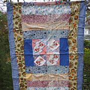 SALE Petticoats and Pantaloons Vintage Crib Quilt Coverlet