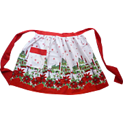 SOLD Snowy Old Fashioned Christmas Village Vintage Christmas Apron