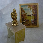 SALE Ideal Petite Princess Lyre Table Set with Picture and Buddha