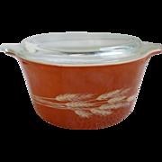 Pyrex Cinderella Autumn Harvest Casserole Dish with Lid 473-B
