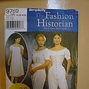 SALE Civil War Martha McCain The Fashion Historian Simplicity 9769 Pattern Uncut