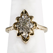 14K Yellow Gold & Diamond Pinky Ring