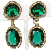 Accessocraft Emerald Green Dangle Drop Earrings