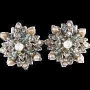 SALE Jose and Maria Barrera Rhinestone Earrings