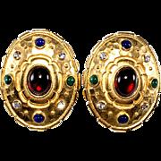 Edgar Berebi Jewel Tone Pierced Earrings