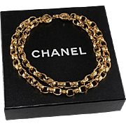 SALE PENDING CHANEL Double Strand Chain Necklace 1980s