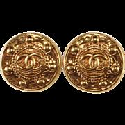 SALE CHANEL CC Logo Baroque Earrings
