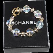 CHANEL Pools of Light Style Rhinestone Bracelet