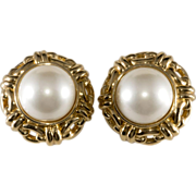Ciner Mabe' Pearl Earrings