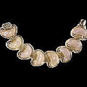 Coro Opal-Look Confetti Lucite Bracelet