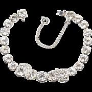 Eisenberg Clear Rhinestone Tennis Bracelet