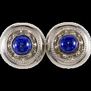 SALE Ellen Designs Blue Lapis & Silver Earrings