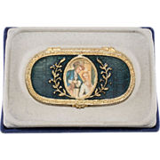 SALE Estee Lauder Cameo Enameled Solid Perfume Compact w/ Box