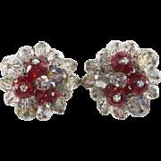 SALE Hobé Glitter Crystal Cluster Bead Earrings
