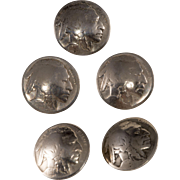 Indian Head Buffalo Nickel Coin Buttons