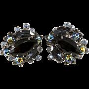 SALE Judy Lee Black Earrings w/ Oil Slick Beads