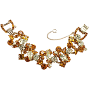 SALE Juliana Amber & Yellow Rhinestone Bracelet