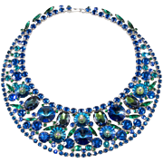 Juliana D&E Peacock Blue Everything Bib Necklace