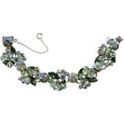 Juliana D&E Green & Iridescent Rhinestone Bracelet