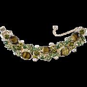 Juliana Green Givre' Chalk White Striped Rhinestone Bracelet