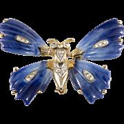 SALE Kenneth Jay Lane Trembler Butterfly Brooch