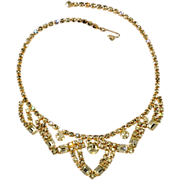 Kramer Pastel Yellow Rhinestone Necklace