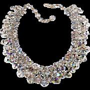 SALE Laguna Iridescent Dangle Glass Bead Necklace