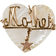 SALE Mother Sweetheart Pin Heart w/ Star