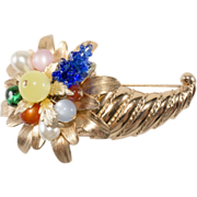 Napier Cornucopia Fruit Brooch