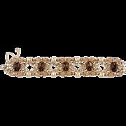 "Napier 8"" Brown Rhinestone Bracelet"