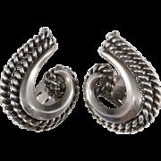 Napier Doris Day Silver Swirl Earrings