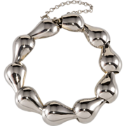 Napier Sterling Silver 1950s Modernist Bracelet