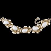 Schiaparelli White Cabochon Vine Bracelet Vintage