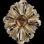 SALE Trifari Goldtone & Rhinestone Brooch Pin