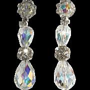 SALE Vendome Crystal & Rhinestone Dangle Earrings