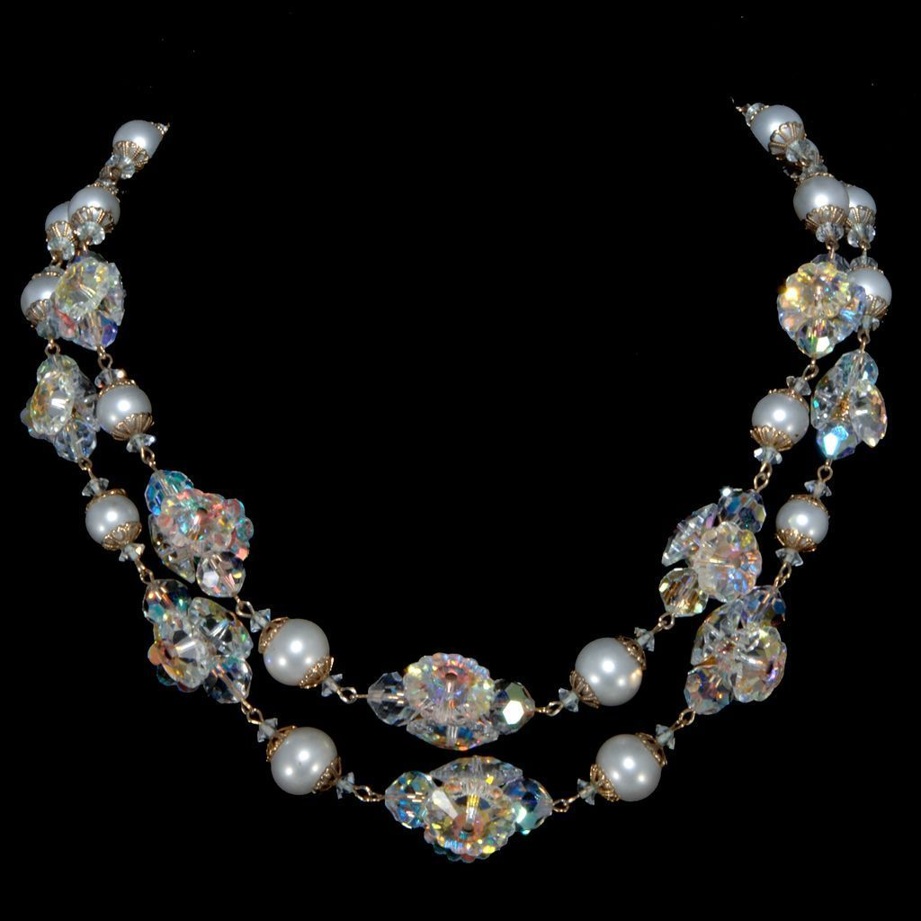 Vendome Faux Pearl & Margarita Stone Necklace from chicantiques on ...