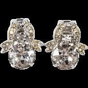 Weiss Ribbon Clear Rhinestone Earrings